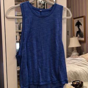 Lulu lemon blue tank top